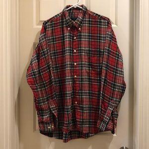Vintage men's Burberry flannel shirt.